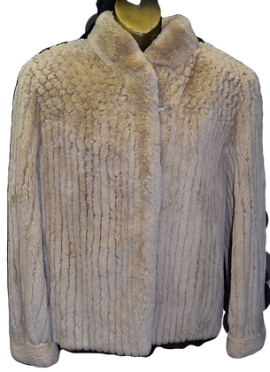Vintage Sheared Beaver Fur Jacket Size Small