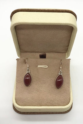 Agate and Silver Earrings
