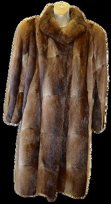 Vintage Brown Muskrat Fur Coat