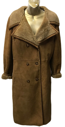 Vintage Tan Colour Lady's Sheepskin Coat
