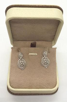 Vintage Fancy Silver Drop Earring