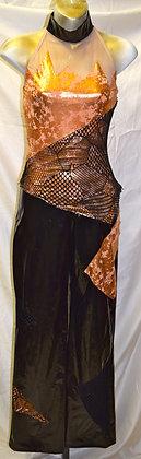 Vintage Adult Spandex Body Wear Dancewear S/M