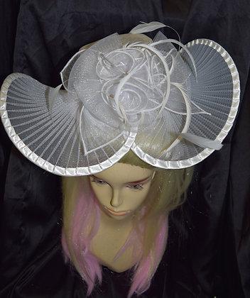 Fancy White Hat Style Fascinator