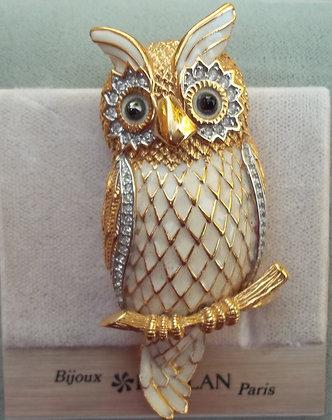 D'Orlan Costume Owl Brooch