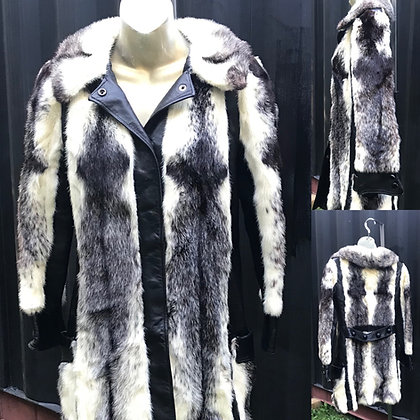 Vintage Herman Furs  Black & Blonde Mink Fur Jacket
