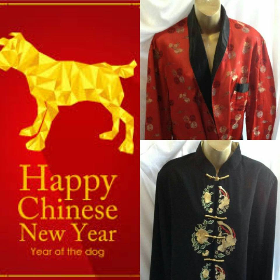 Chinese New year is Feb 16th find your quality traditional Chinese New year outfit available in store @reflections_vintage_toronto #chinesenewyear #chineseclothing #yearofthedog