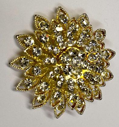 Vintage Flower Burst Costume Brooch Pin