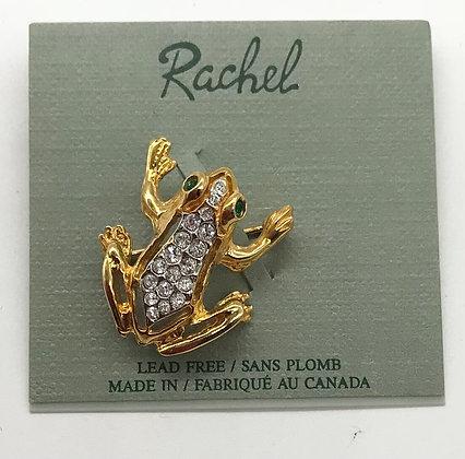 Frog Brooch Pin Designed By Rachel