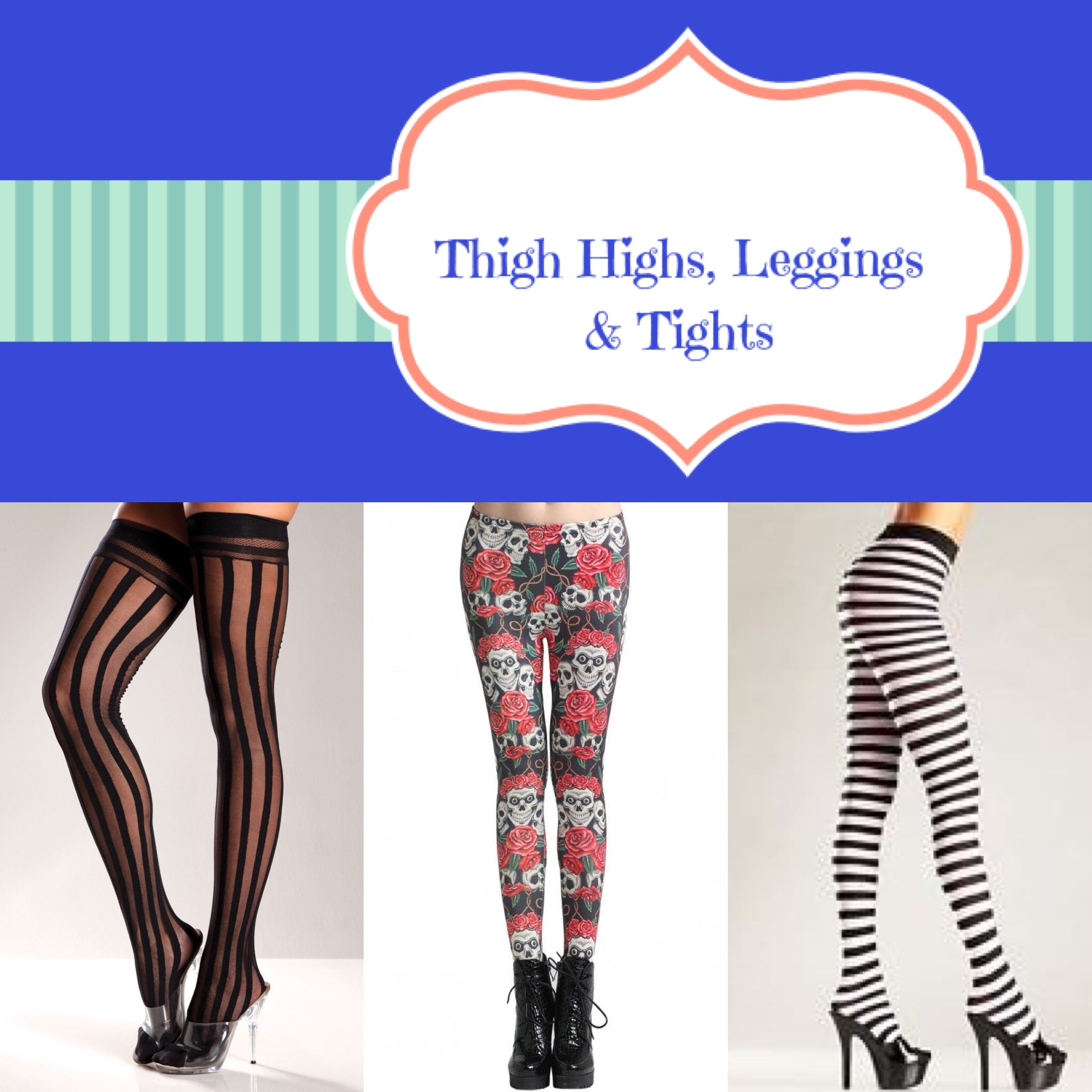 Thigh Highs, Leggings & Tights
