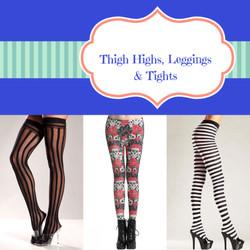 Thigh Highs, Leggings & Tights