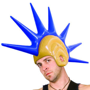 Giant Inflatable Mohican Blow Up Theatrical Wig