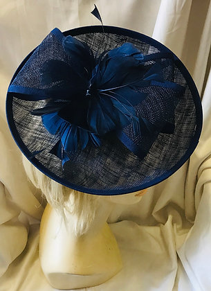 Feather & Bow Navy Blue Fancy Fascinator