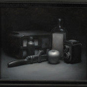 still life in grisaille