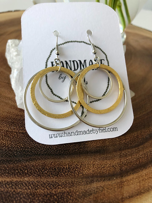 Gold & Silver Dangly Hoops
