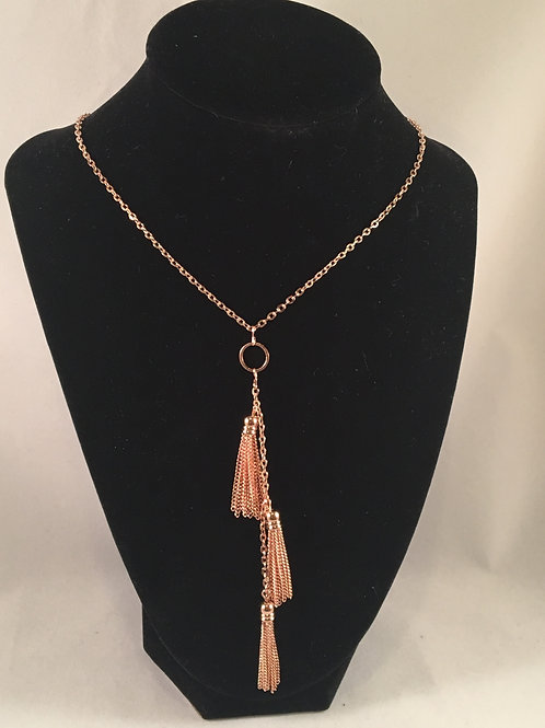 Rose Gold Tassel Necklace