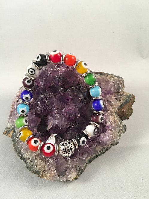 Rainbow Evil Eye Bracelet