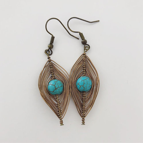 Gypsy Wire Wrap Earrings