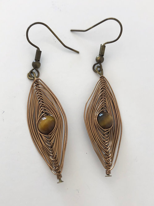 Copper Wrapped Tigers Eye