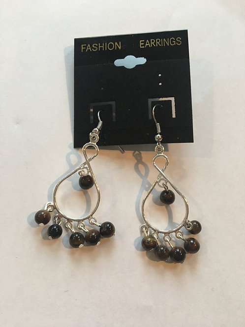 Dangly Gemstone Earrings