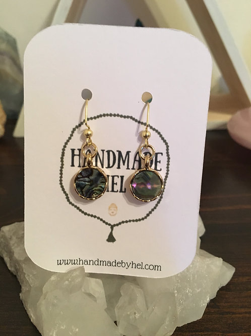 Gold Abalone Earrings