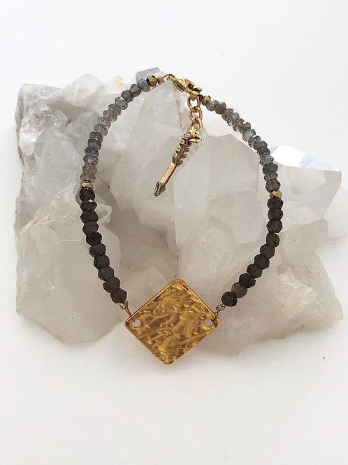 Smoky Quartz & Labradorite Bracelet