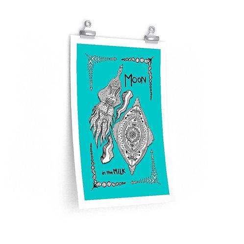 Moon in the Milk - Squid & Eye Premium Poster