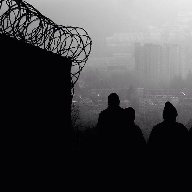 #mood #silhouette #razorwire #photograph