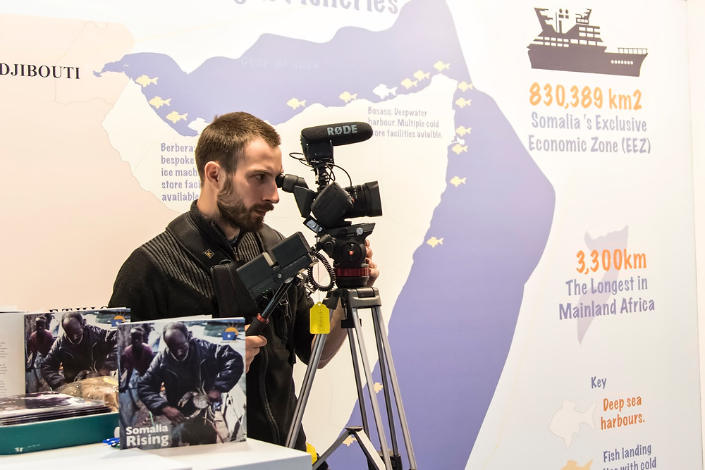 Cameraman at Brussels seafood Expo 2017