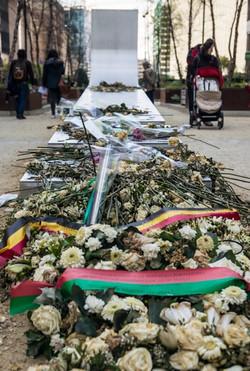 Brussels terrorist attack memoriam