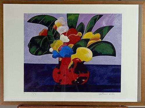 Aldemir Martins - Vaso de Flores Colorida- Parcele em até 10x no Cartão