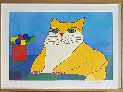 Aldemir Martins - Gato Amarelo - Parcele em até 10 x no Cartão