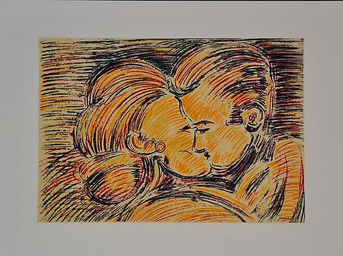 Rubens Gerchman - Beijo I - Parcele em até 10x  no Cartão