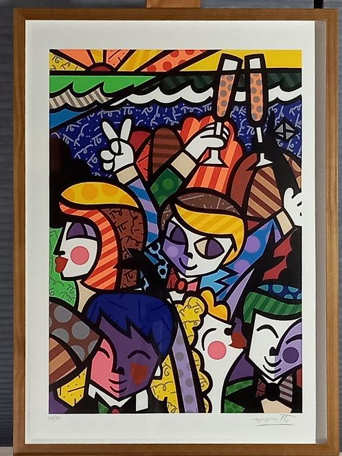 Romero Britto - Festa -Parcele em até 10 x no Cartão.