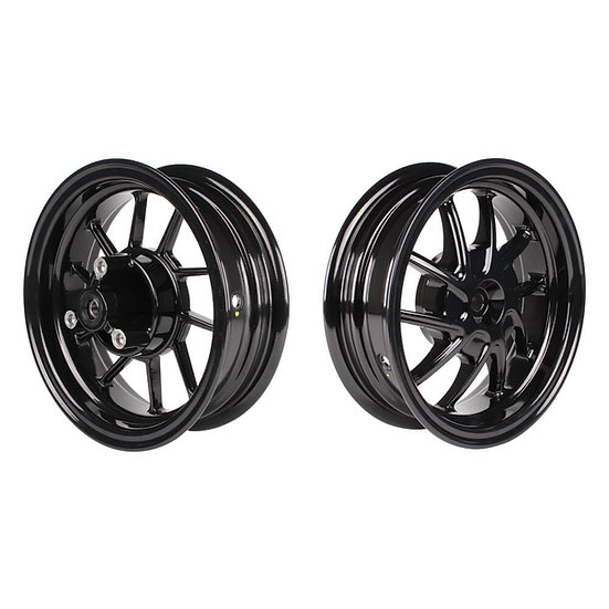 "NCY Ruckus Wheel Set (Black Ice, Hustler, 10"") Honda Ruckus"