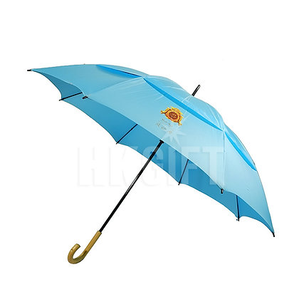 "32"" Double Layers Wooden Golf Umbrella"