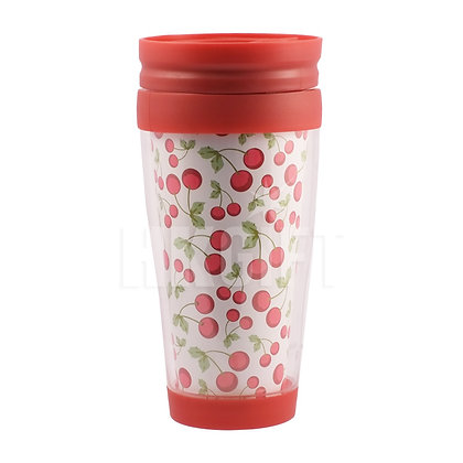 Stainless Bottle Red Flower