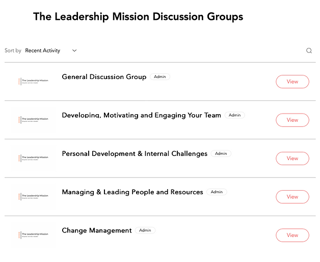 The Leadership Mission Discussion Groups