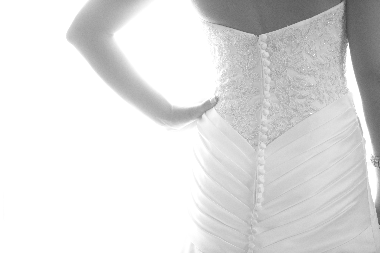 Getting Ready: Bride's Dress Detail