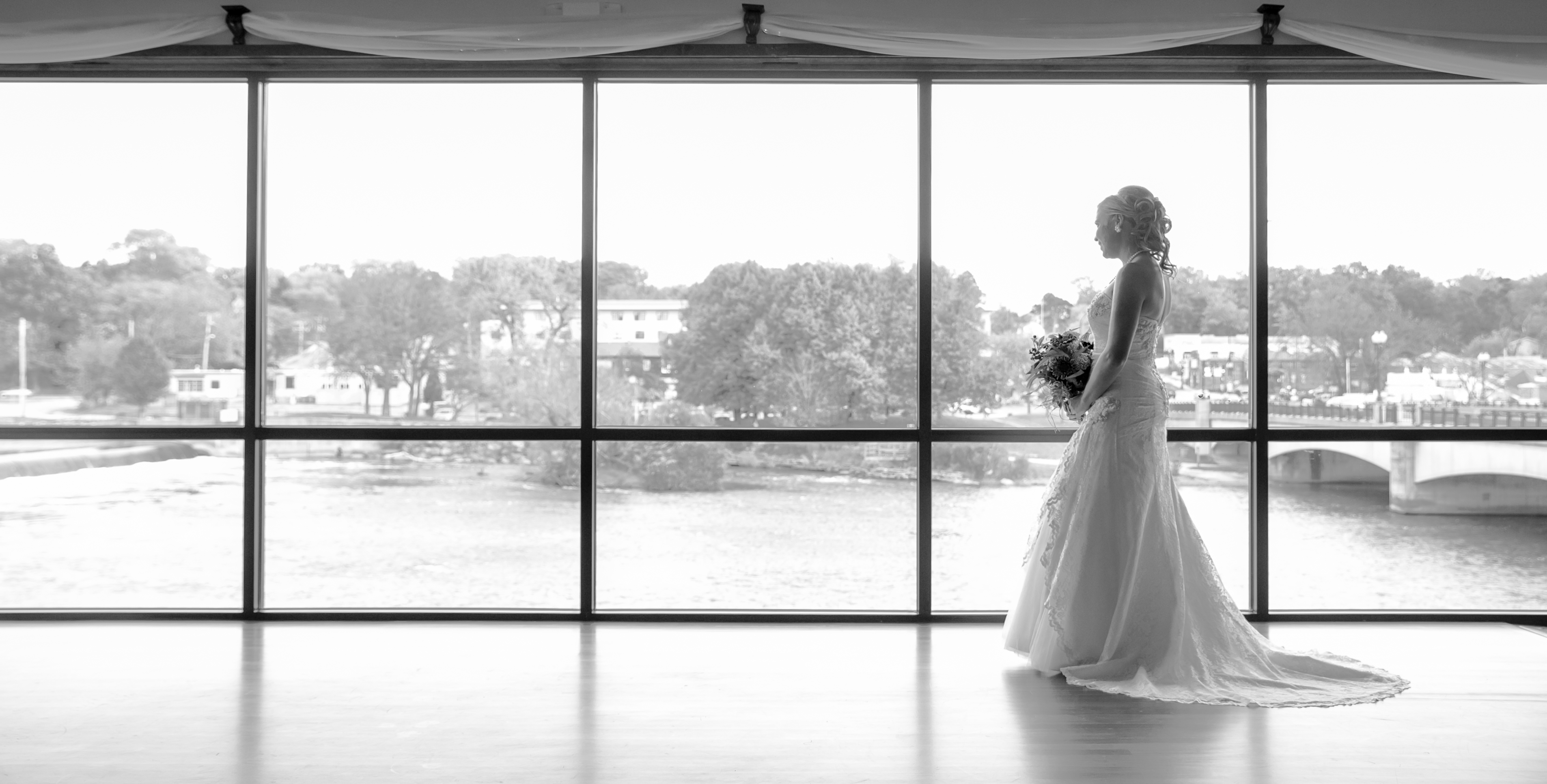 Bride in Front of Large Window