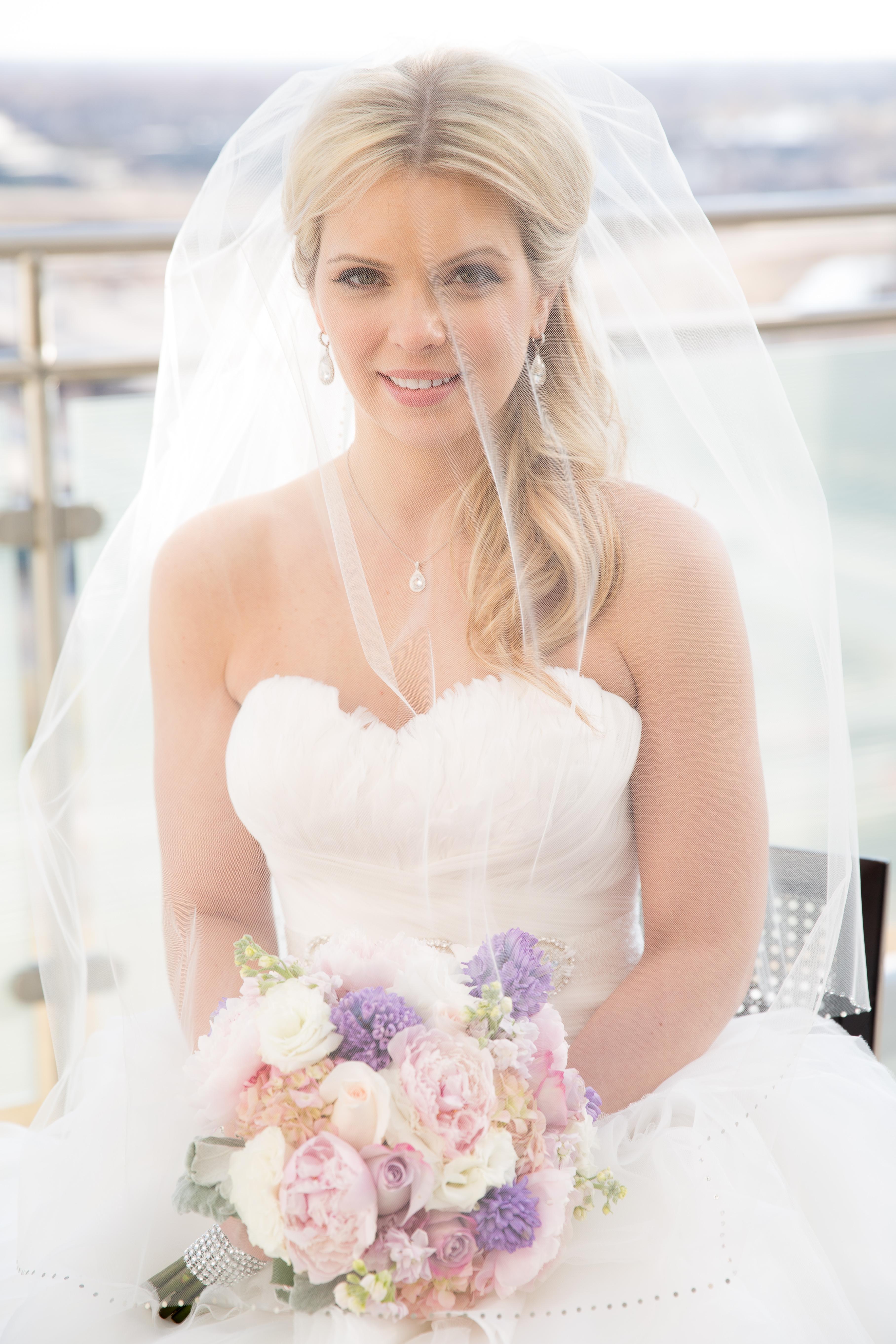 Bride Portrait Under her Veil