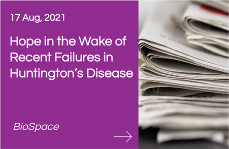 Hope in the Wake of Recent Failures in Huntington's Disease