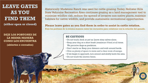 Mudstone Ranch Gate Sign