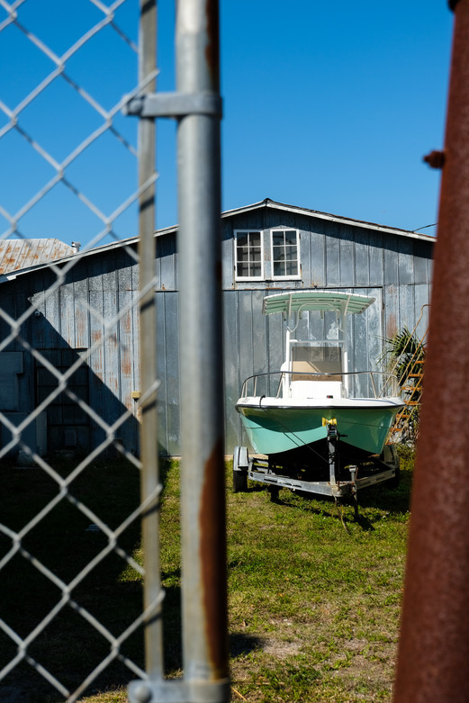 A boat waits for its next day on the water in Titusville, Florida.