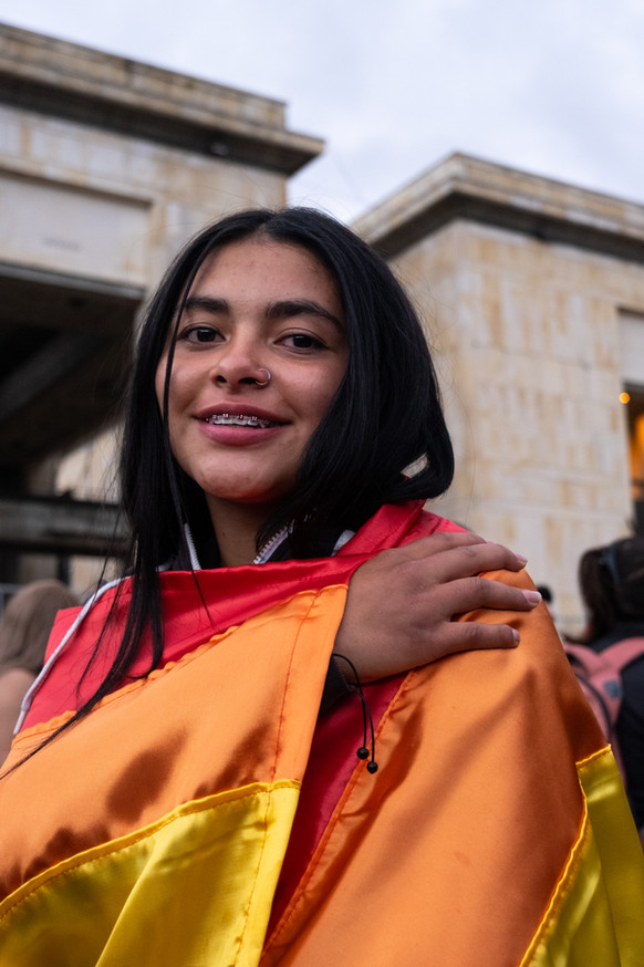 Alejandra, an attendee at the Pride Parade in Bogotá in June 2021.