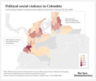 Political-social violence in Colombia.