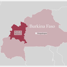 A map of Burkina Faso