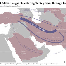 Most Afghan migrants entering Turkey cross through Iran