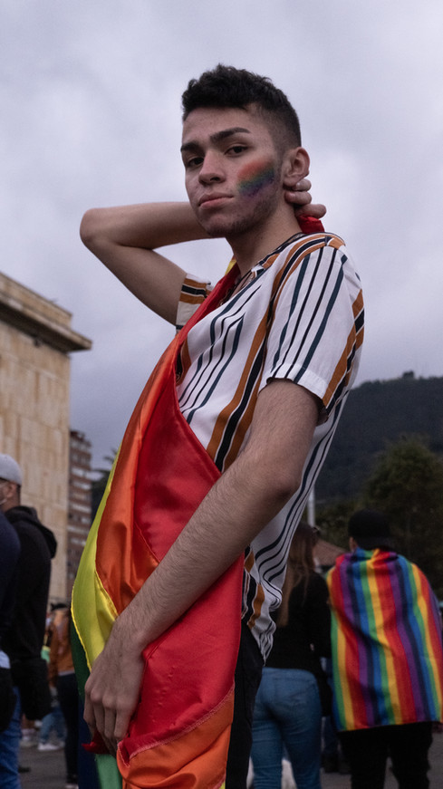 Sebastian, an attendee at the Pride Parade in Bogotá in June 2021.