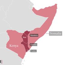 A map of Kenya
