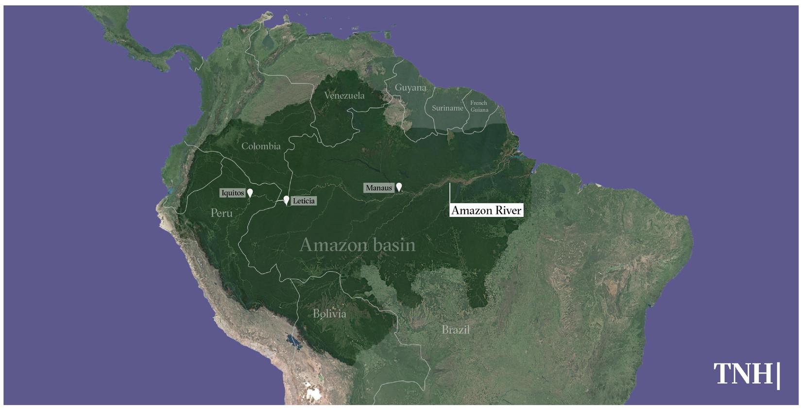Map of the Amazon region